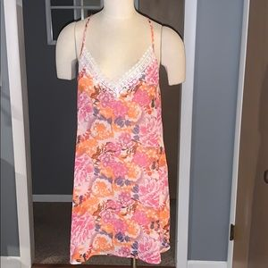 Sheer swim suit cover large